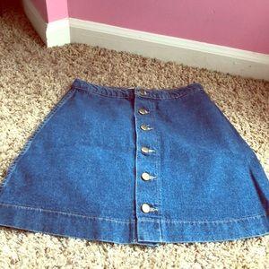 Denim skirt in good condition barely worn